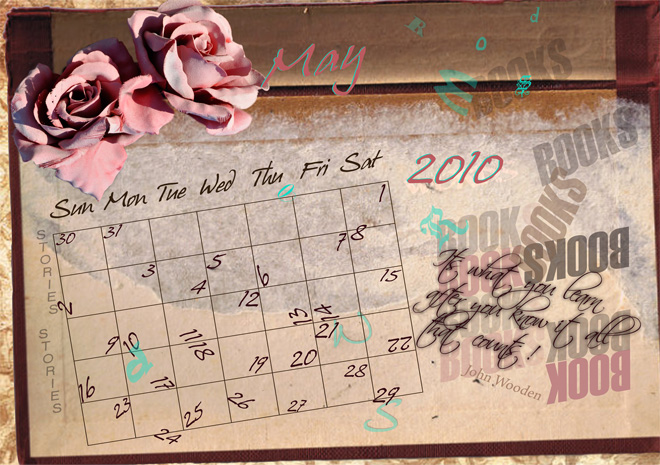 May Calendar page ©2010 Kadira Jennings