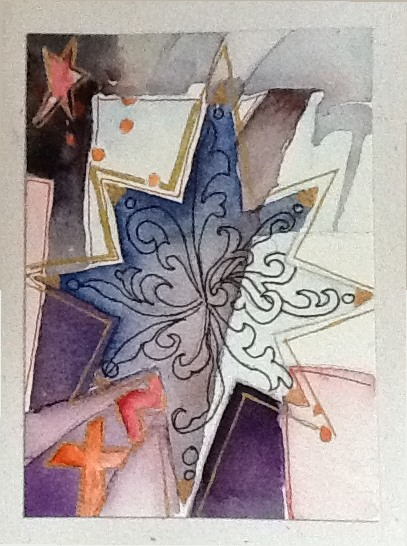 Christmas Star - Water color Kadira Jennings