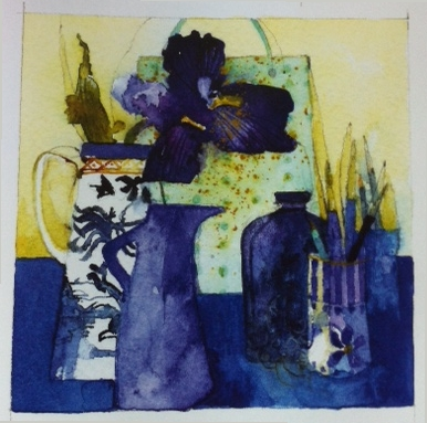 Small Painting In Blue - Shirley Trevena