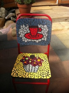 Cup Cake Mosaic Chair