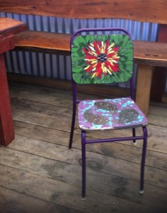 Red & Yellow Flower Chair