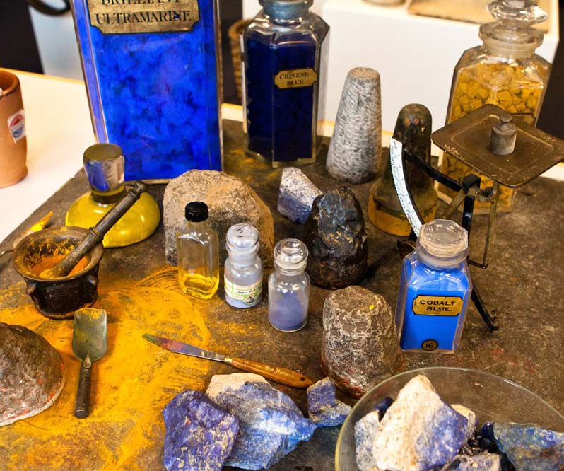 Pigments from the Old Holland Museum