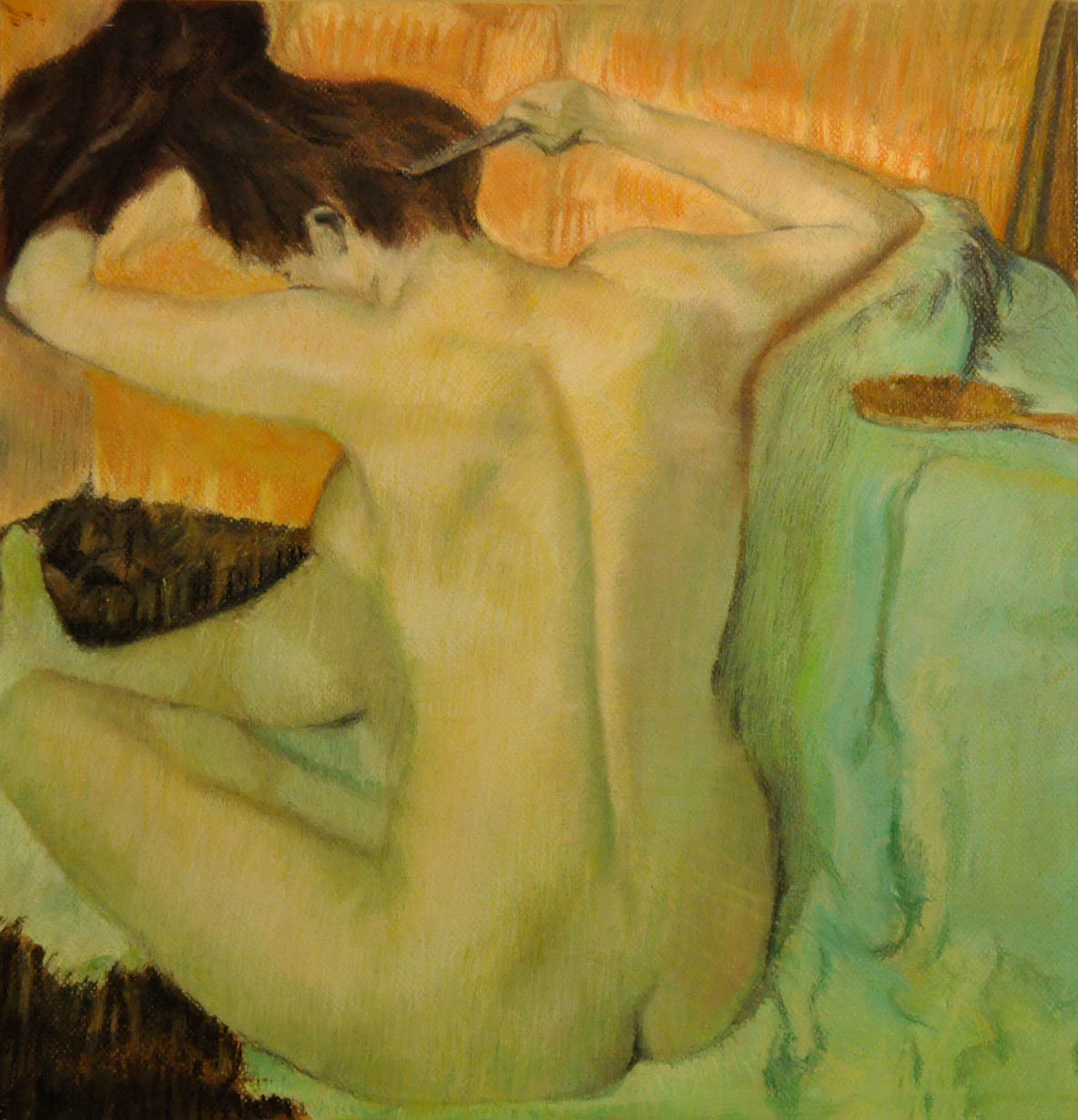 After The Bath -Stephanie Lewis -after Degas