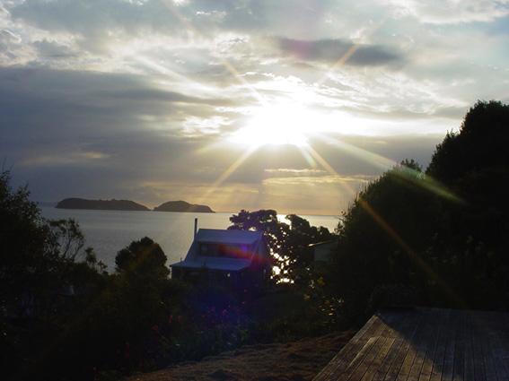 Sunset Waitete Bay