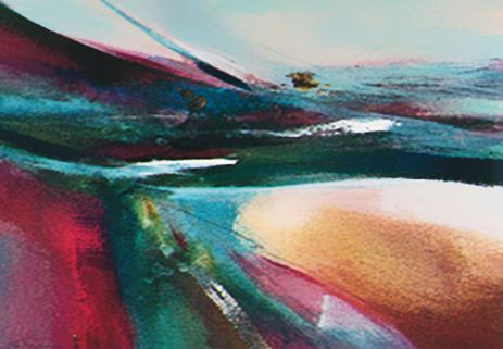 Journey I - contemporary  painting by Eva Macie