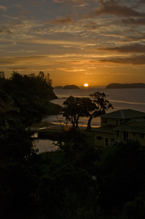 Sunset over Waitete Bay