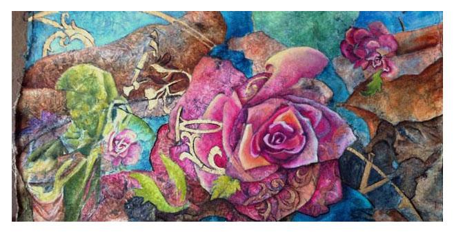 Detail of Gaia painting by Kadira Jennings