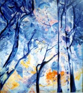 Blue trees