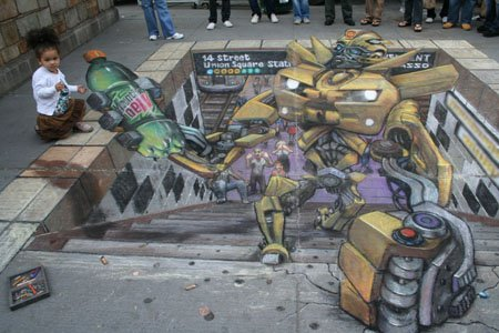 Chalk Art - Transformer