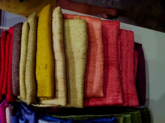 Silks  - beautiful autumn, summer colours