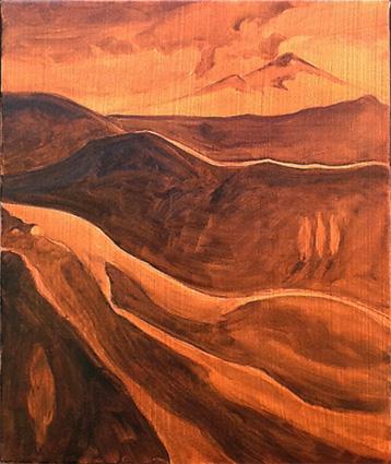 Underpainting - Mt Taranaki II