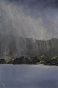 Moehau Sunshower oil painting Kadira Jennings