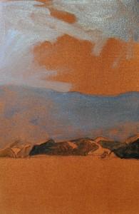 Moehau Sunshower - under painting
