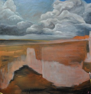 This Weeks Painting - The Entrance - under painting