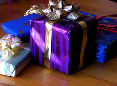 gift wrapped box photo