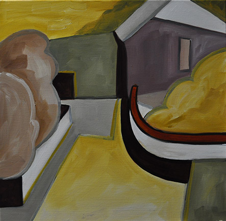 Abstract Painting -Yellow House