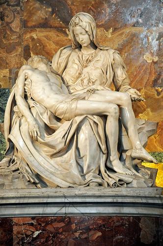 Creating art - the Pieta photo
