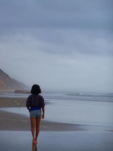 Sacred Time, solitary figure photo
