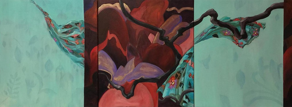 Dancing With The wind -Triptych,Hot off the easel