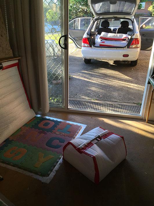 ShoreThyme Exhibition,Kadria Jennings,Packing the car