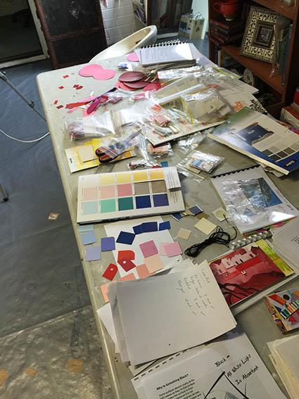 Studio News,Paint chips for Colour workshop