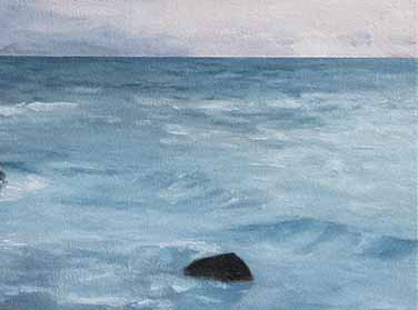 Matheson Bay, beginning a painting,NZ seascape